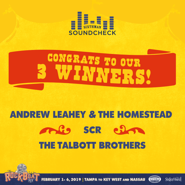 Soundcheck Winners Announced!