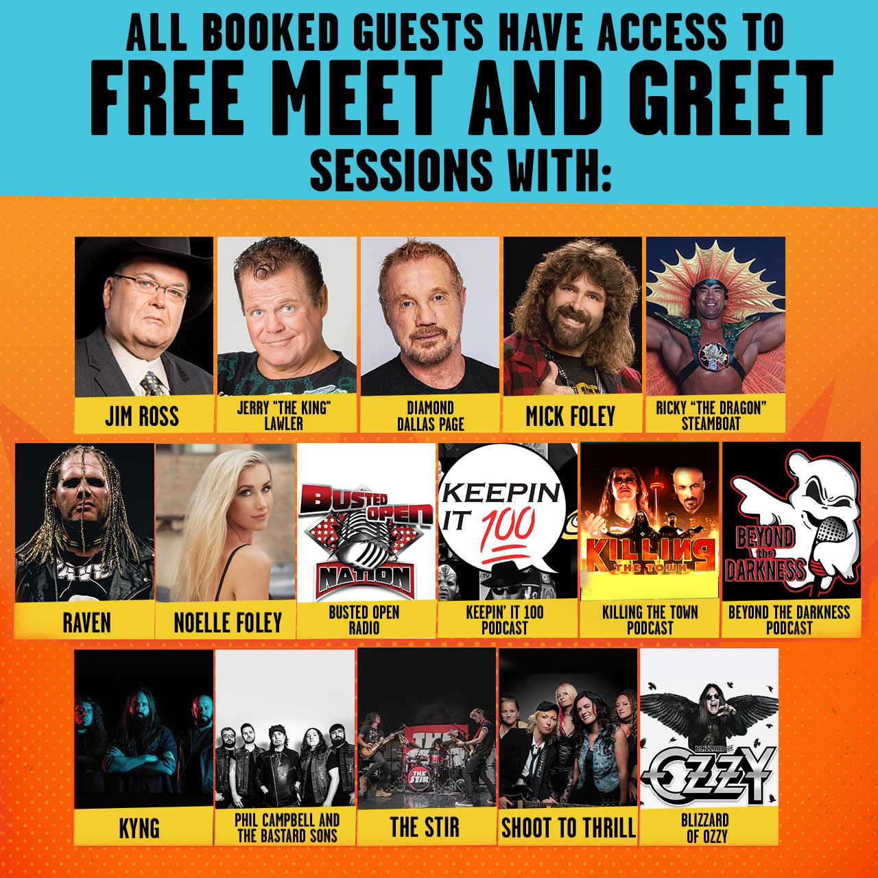 Meet Greet Sessions Chris Jericho Cruise