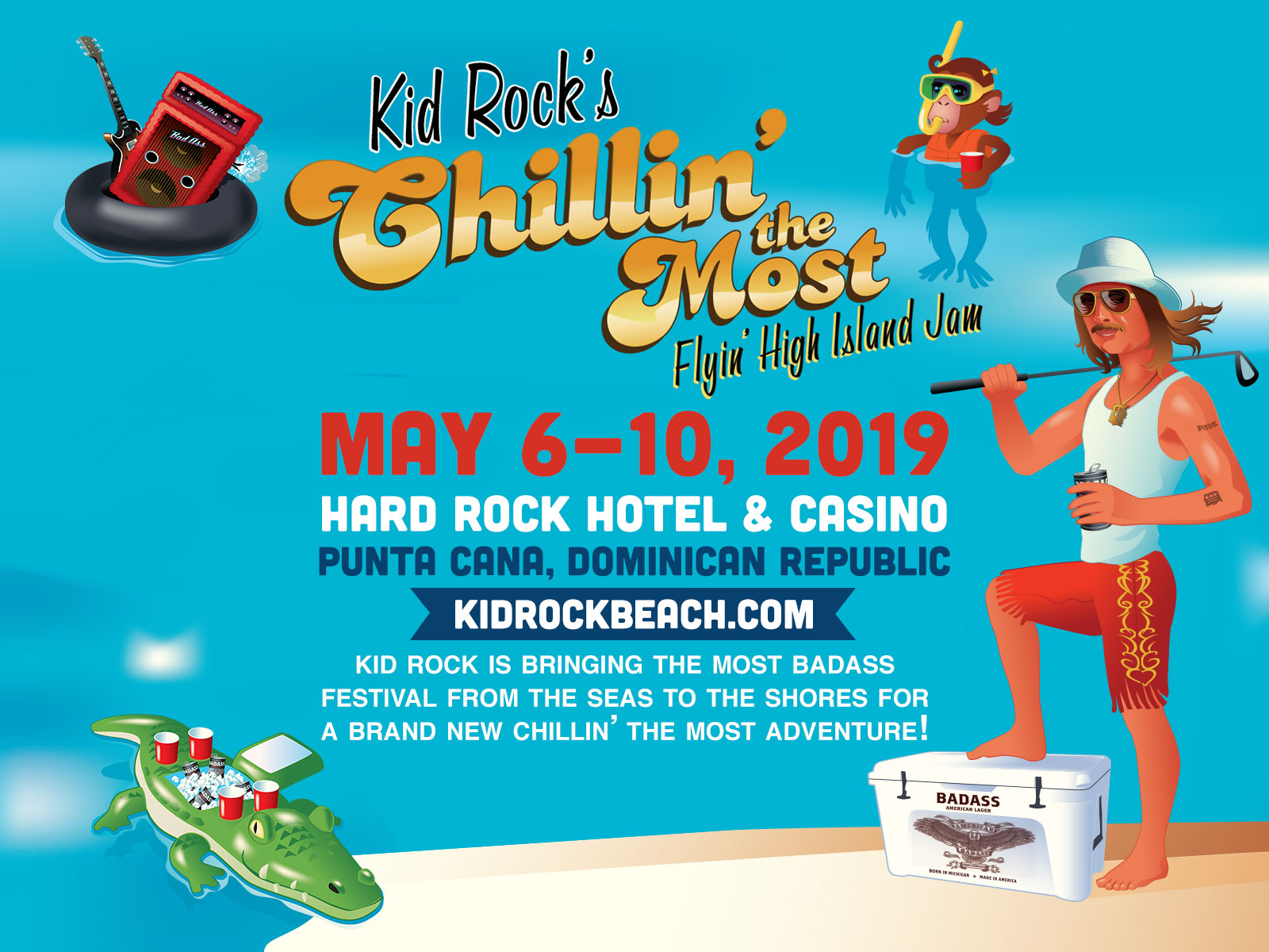 Kid Rock's Chillin' the Most Flyin' High Island Jam