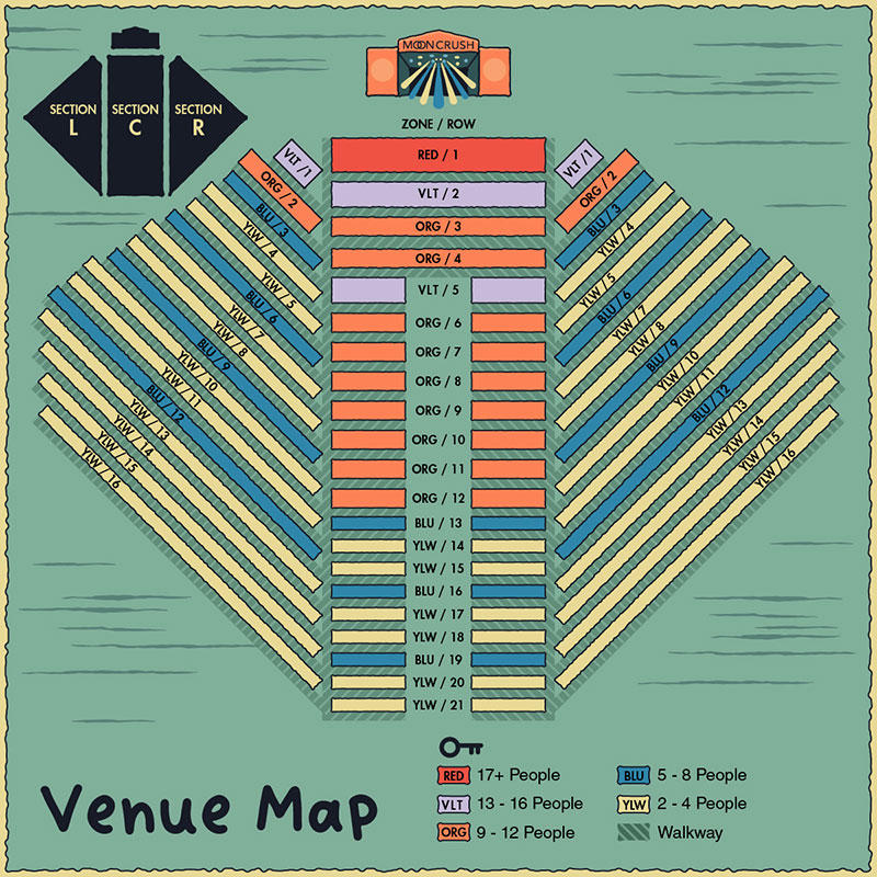 Ticketing seating zones