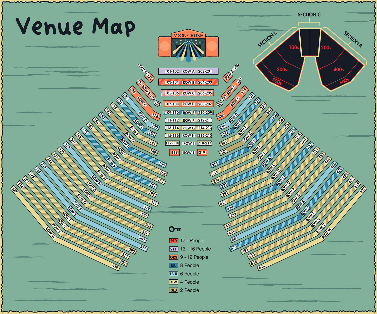 Ticketing seating zones