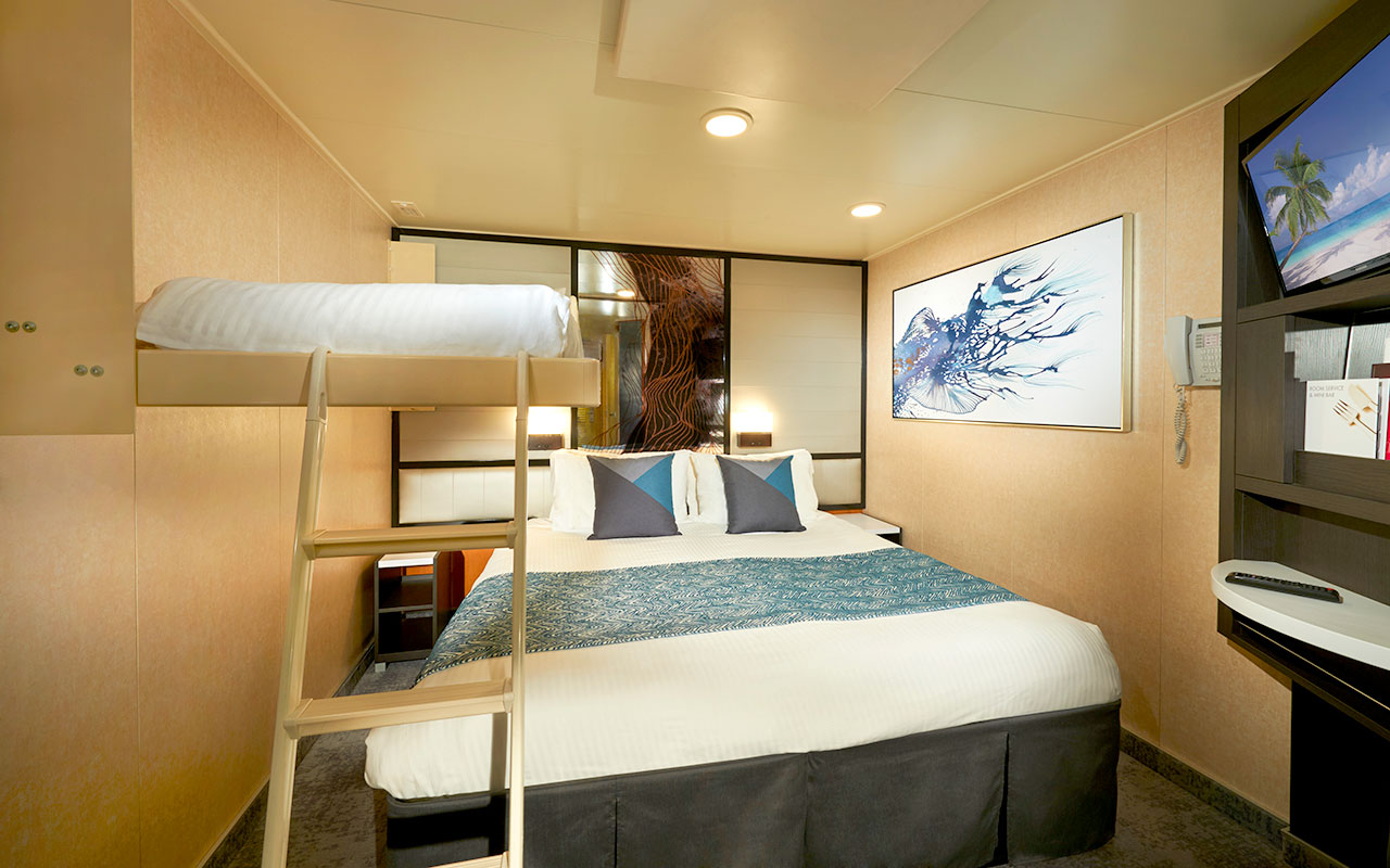 Interior, Ocean View and Balcony Staterooms